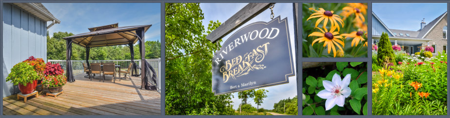 Riverwood B&B collage of images